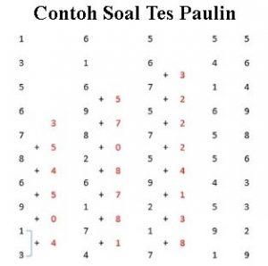 Contoh Soal Tes Paulin