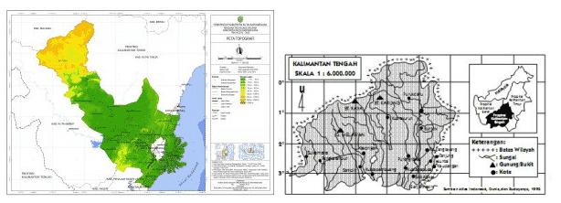 peta Topografi dan peta Chorografi