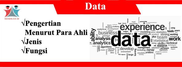 Data: Pengertian Menurut Para Ahli, Jenis Serta Fungsi Data