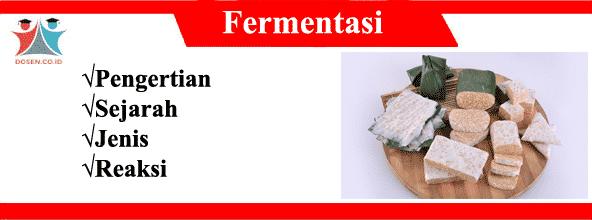 Fermentasi: Pengertian, Sejarah, Jenis dan Reaksi Fermentasi