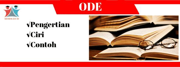 Ode: Pengertian, Ciri-Ciri Serta Contoh Puisi Ode