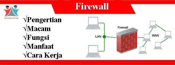 Firewall: Pengertian, Macam, Fungsi, Manfaat Serta Cara Kerjanya