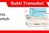 12 Jenis-Jenis Bukti Transaksi Beserta Contohnya Lengkap