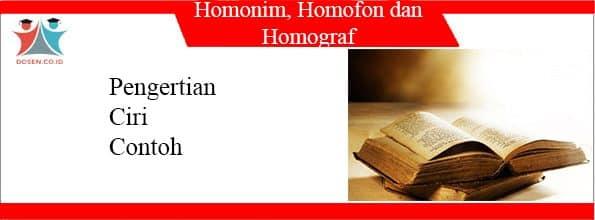 Homonim, Homofon dan Homograf