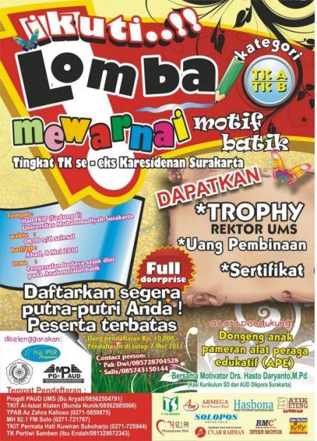 Contoh Pamflet Lomba