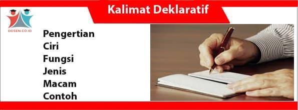 Kalimat Deklaratif