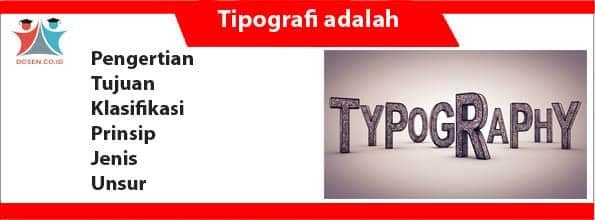 Tipografi adalah