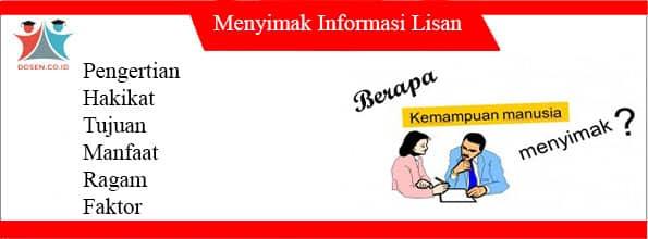 Menyimak Informasi Lisan