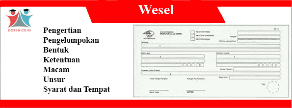 Pengertian Wesel Pengelompokan Bentuk Macam Unsur Tempat