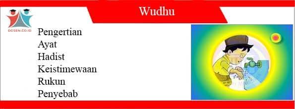Pengertian Wudhu